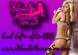 Blondie massage spa